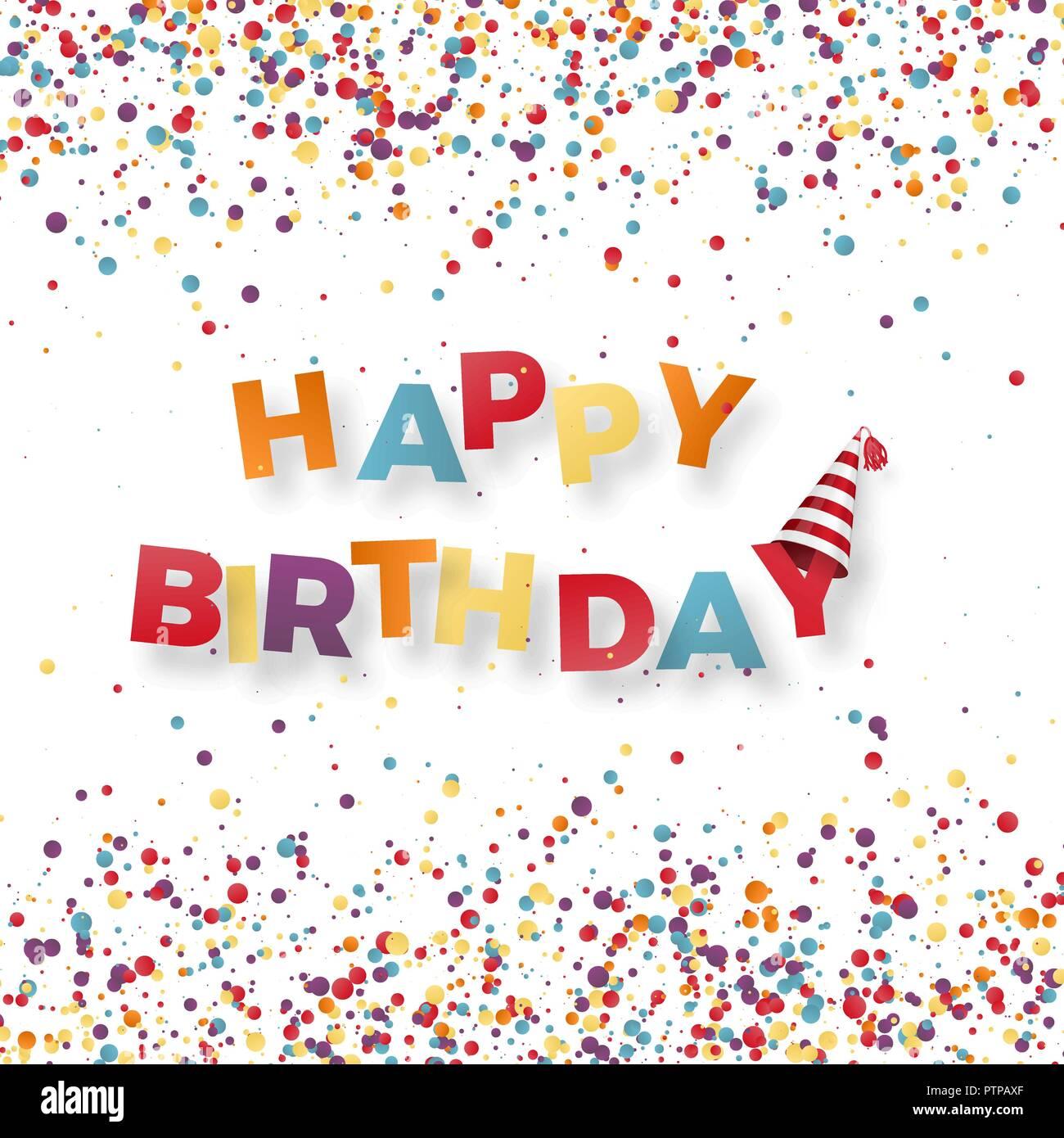 Happy birthday holiday banner  Inscription happy birthday on