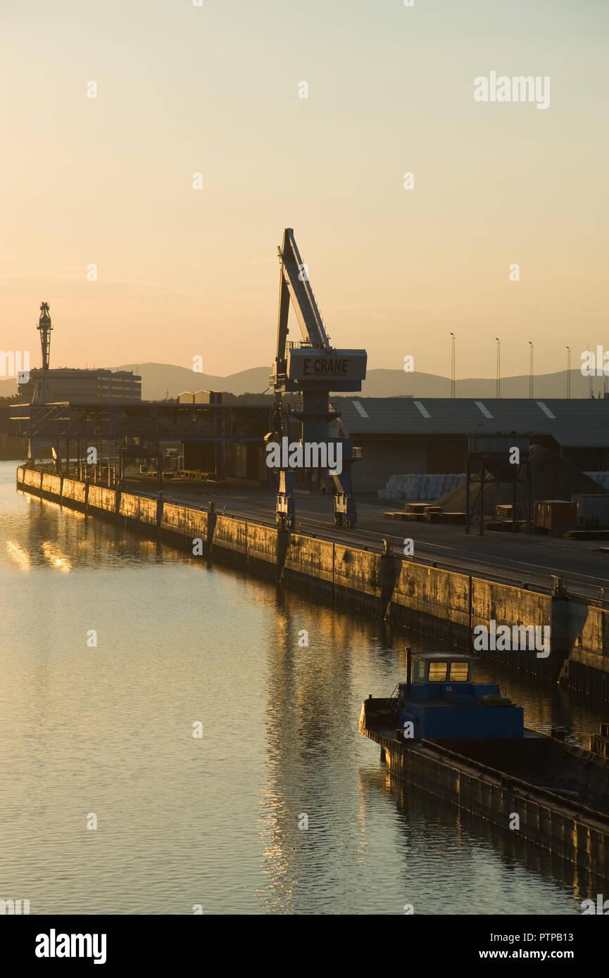 Wien, Donau, Hafen - Vienna, Danube, Harbour - Stock Image
