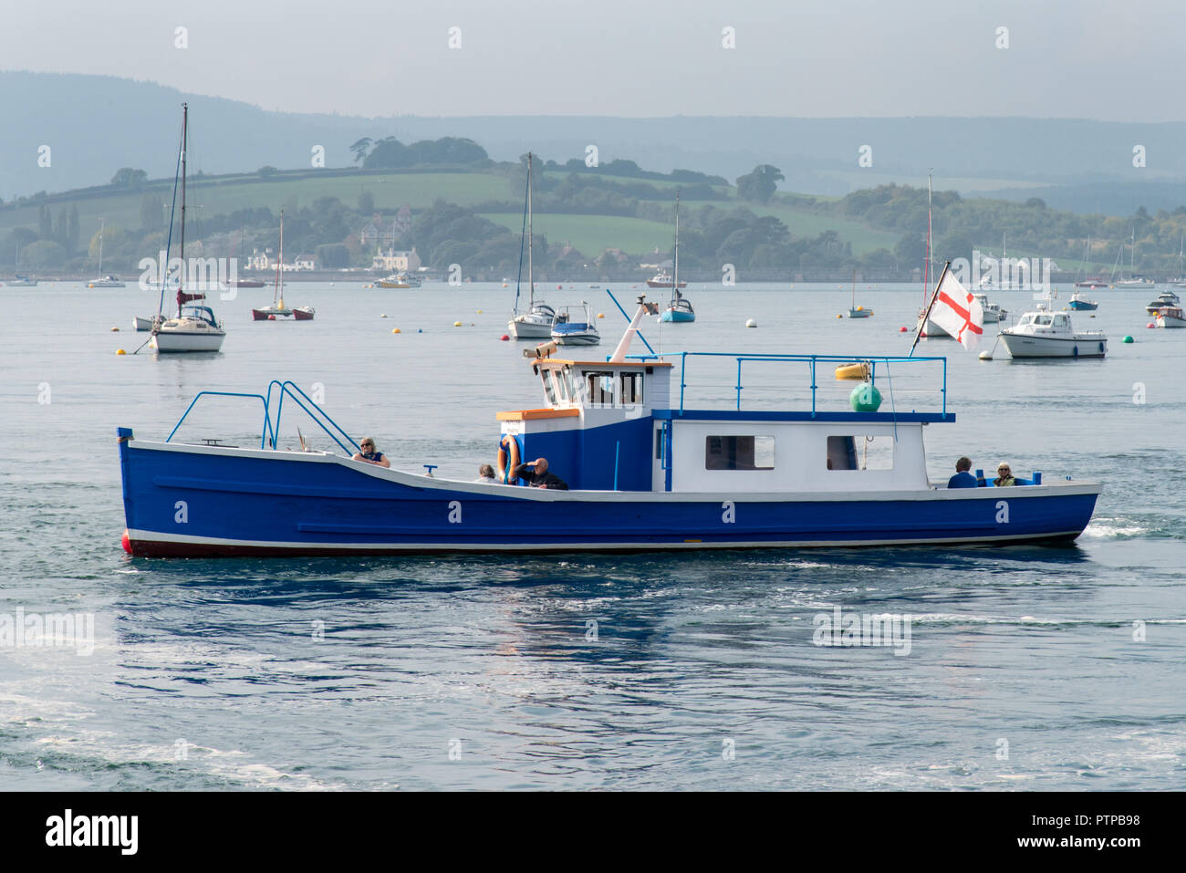 EXMOUTH, DEVON, UK - 05OCT2018:  Princess Marina is one of the boats used to operate the ferry service across the River Exe Estuary to Starcross - Stock Image