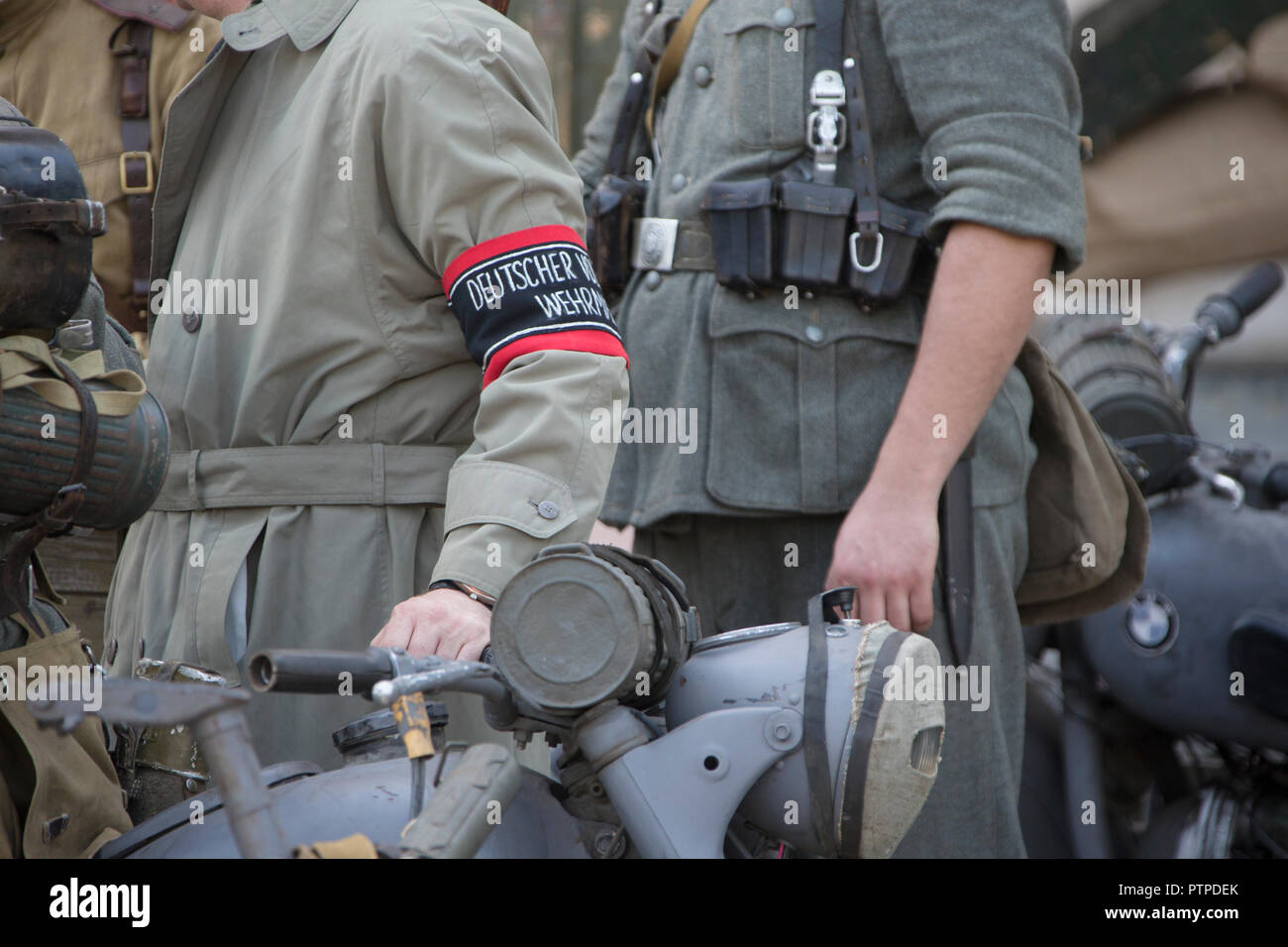 Belarus, Gomel. May 9, 2018. Victory Day. Historical reconstruction in 1945, capture of the Reichstag.People in German uniform of the Second World War - Stock Image