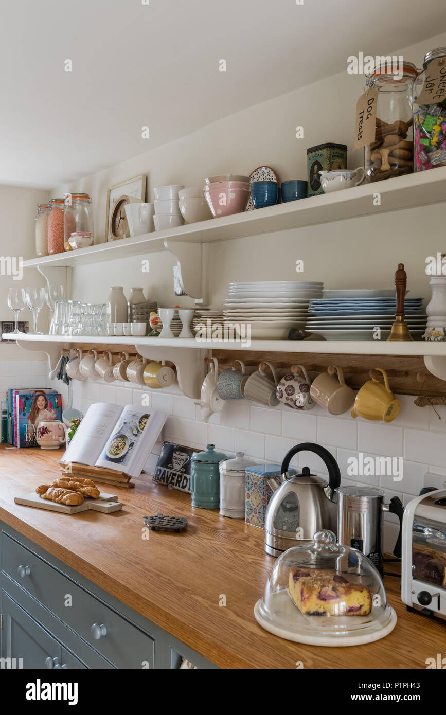 Open Kitchen Shelves High Resolution Stock Photography And Images Alamy