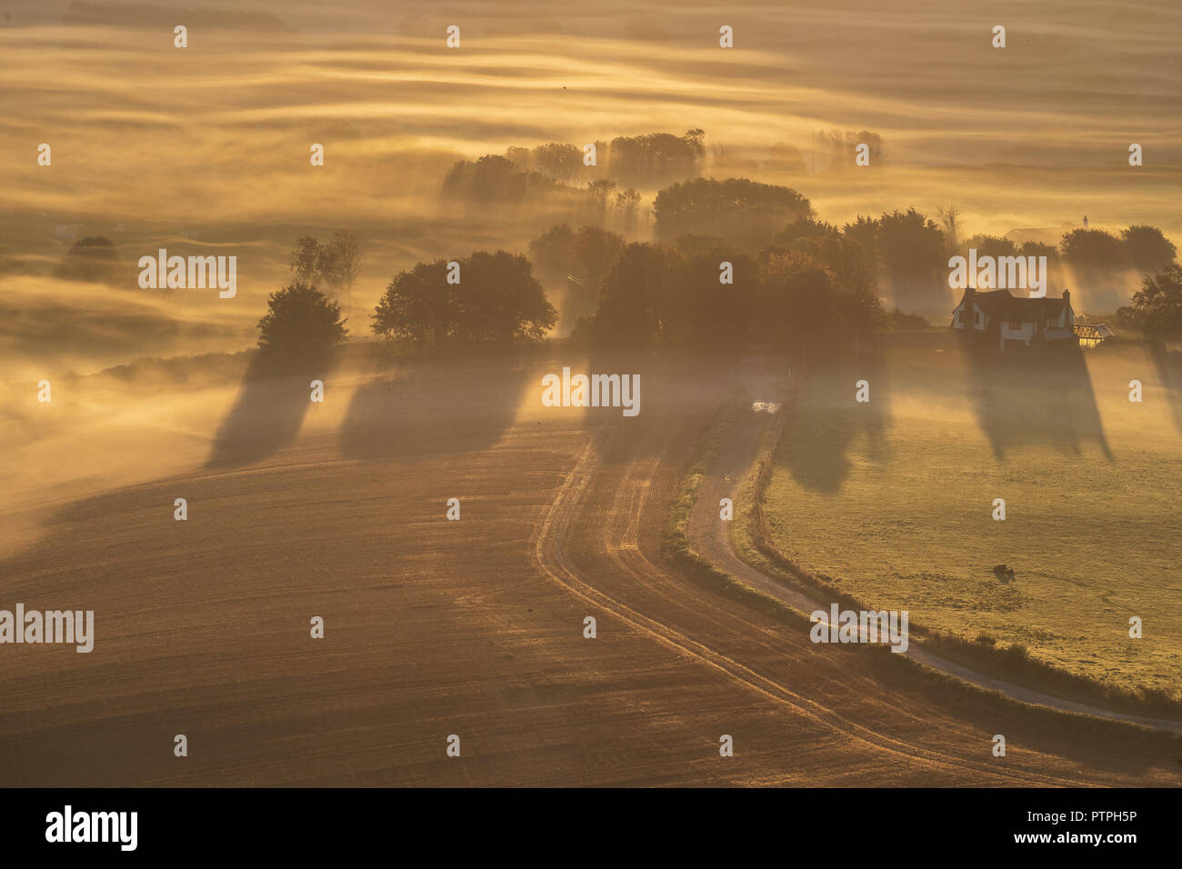 Layers of Sussex Stock Photo