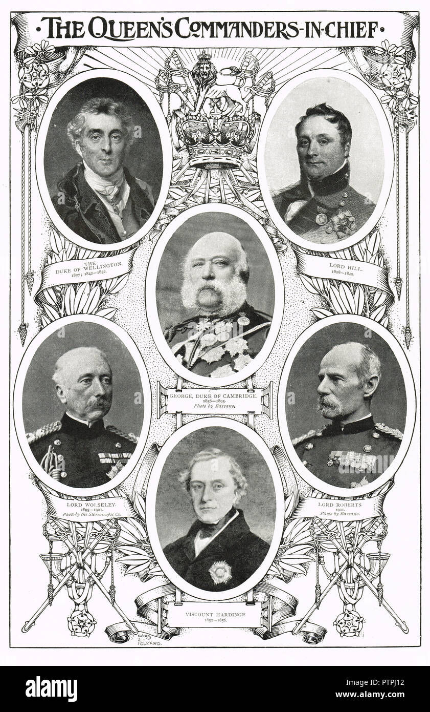 Commanders in chief of the Victorian era - Stock Image