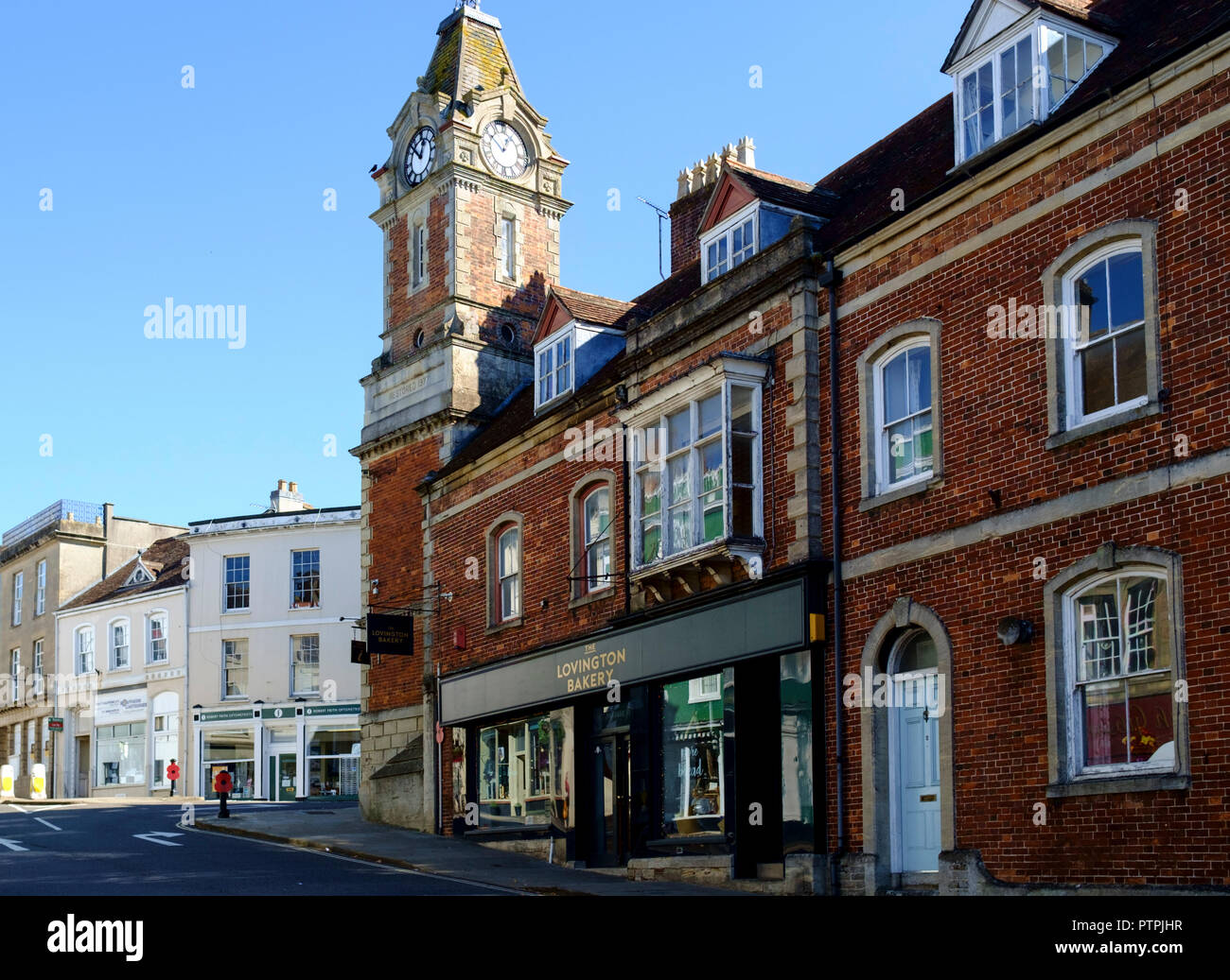 Wincanton, a small town in South Somerset England UK - Stock Image