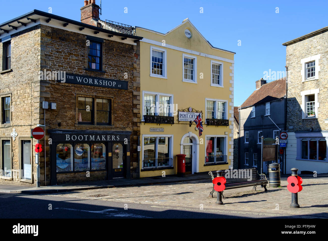 Wincanton, a small town in South Somerset England UK Post office - Stock Image