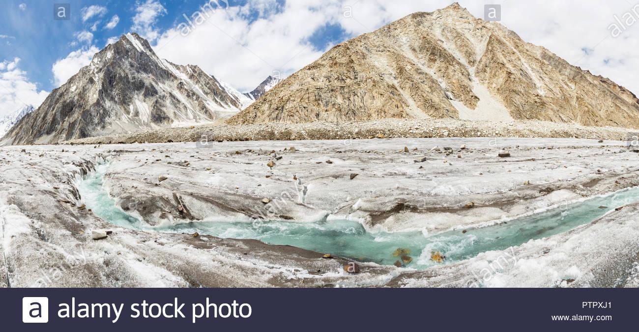 Vigne glacier, Karakoram, Pakistan - Stock Image