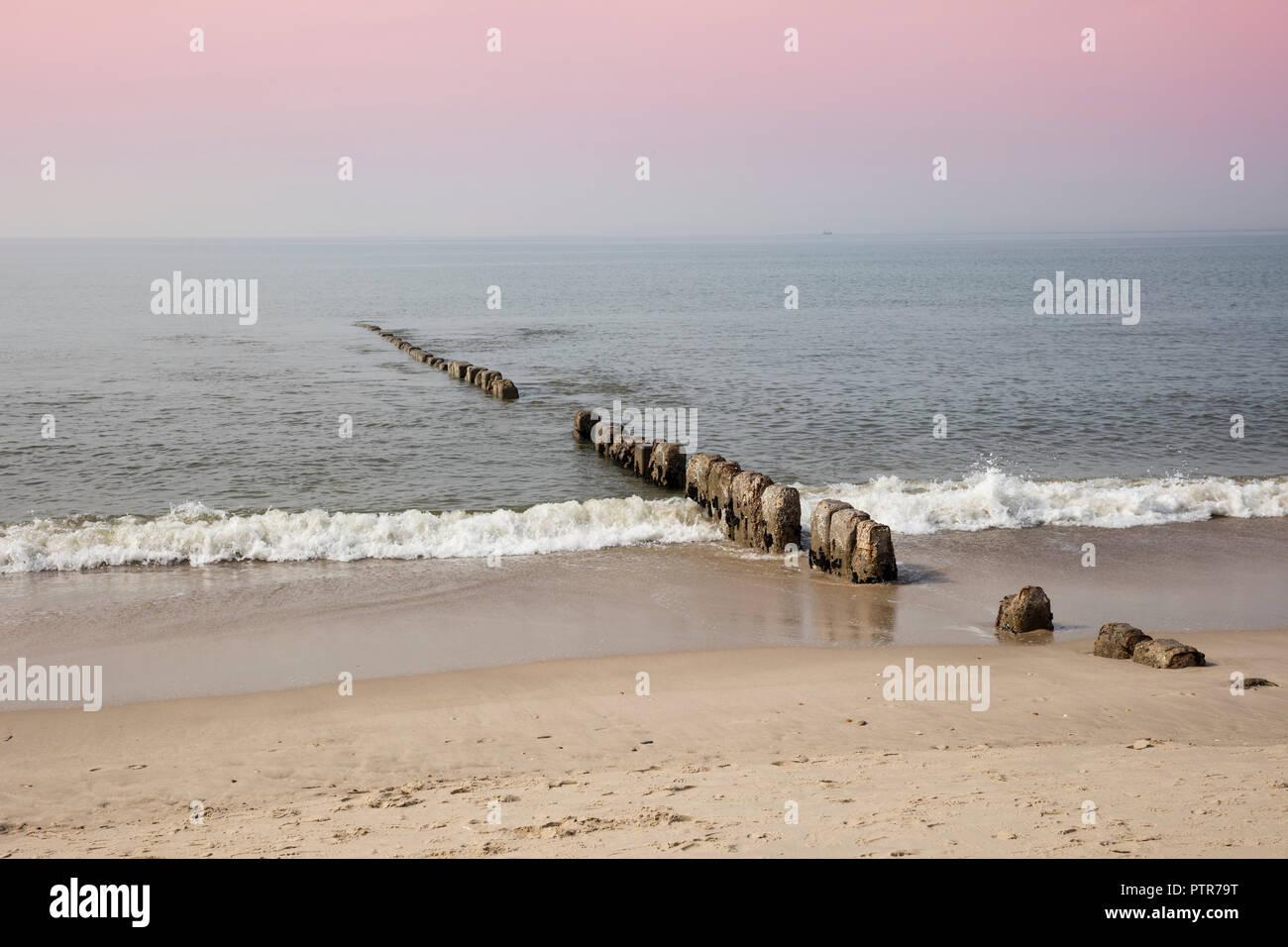 Sunset Over The North Sea Sylt North Frisian Island North