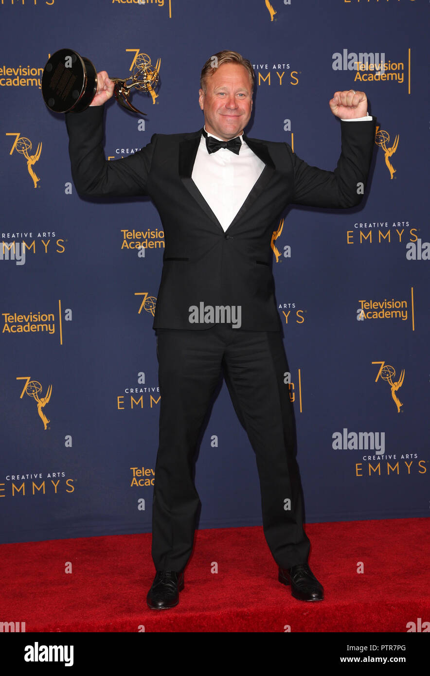 2018 Creative Arts Emmy Awards - Press Room Day 1  Featuring: Rowley Irlam Where: Los Angeles, California, United States When: 09 Sep 2018 Credit: FayesVision/WENN.com - Stock Image