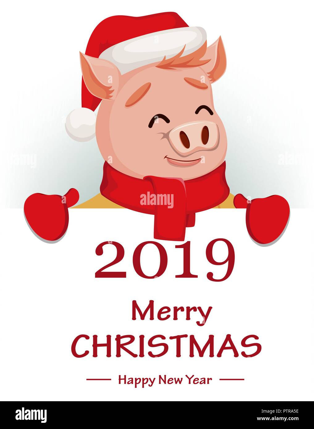 merry christmas cute pig wearing santa claus hat and merry christmas and happy new year clipart black and white merry christmas and happy new year clip art banner