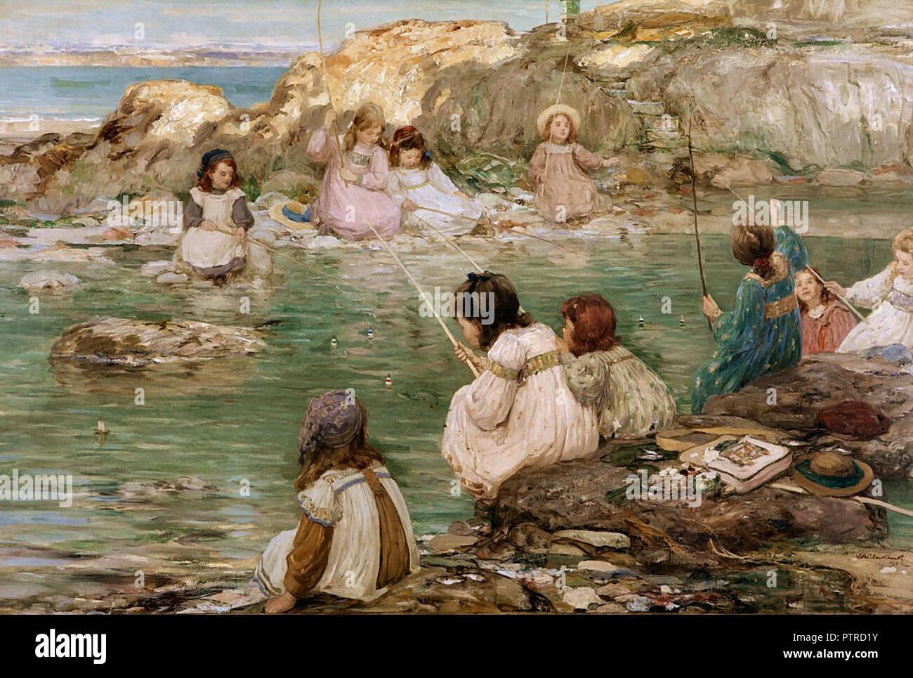 Blacklock  Thomas Bromley - Fisher Girls - Stock Image