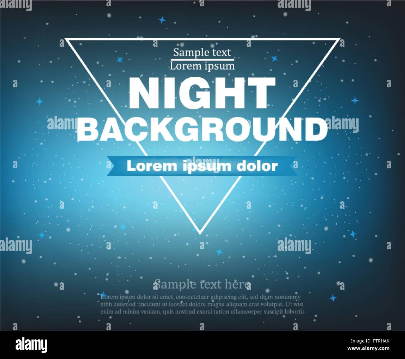 Night banner background Vector realistic template layout - Stock Vector