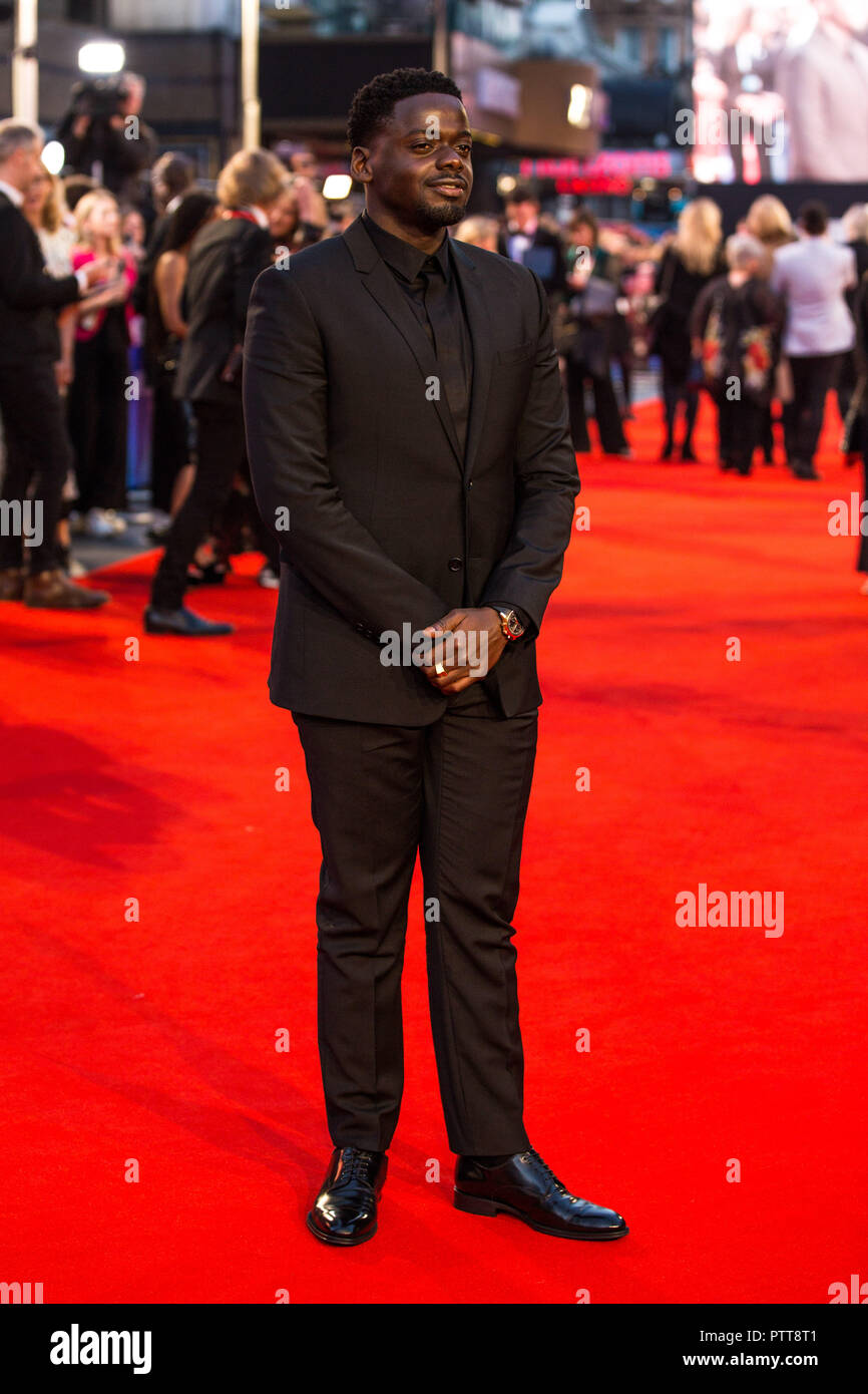 London, UK. 10th Oct 2018. Daniel Kaluuya at Widows Premiere and opening night of the 62nd BFI London Film Festival 2018 on Wednesday 10th October, 2018 at Cineworld, Leicester Square, London, ENGLAND. Credit: Tom Rose/Alamy Live News - Stock Image