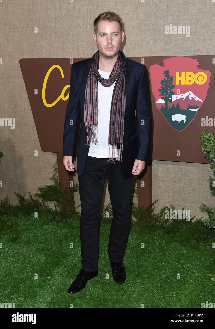 Los Angeles, CA, USA. 10th Oct, 2018. 10 October 2018 - Los Angeles, California - Christian Brassington. HBO's ''Camping''Los Angeles Premiere held at Photo Credit: Birdie Thompson/AdMedia Credit: Birdie Thompson/AdMedia/ZUMA Wire/Alamy Live News - Stock Image