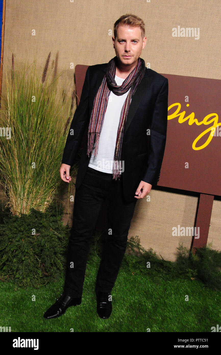 Los Angeles, USA. 10th Oct 2018. Actor Christian Brassington attends the Los Angeles Premiere of HBO Series 'Camping' on October 10, 2018 at Paramount Studios in Los Angeles, California. Photo by Barry King/Alamy Live News - Stock Image