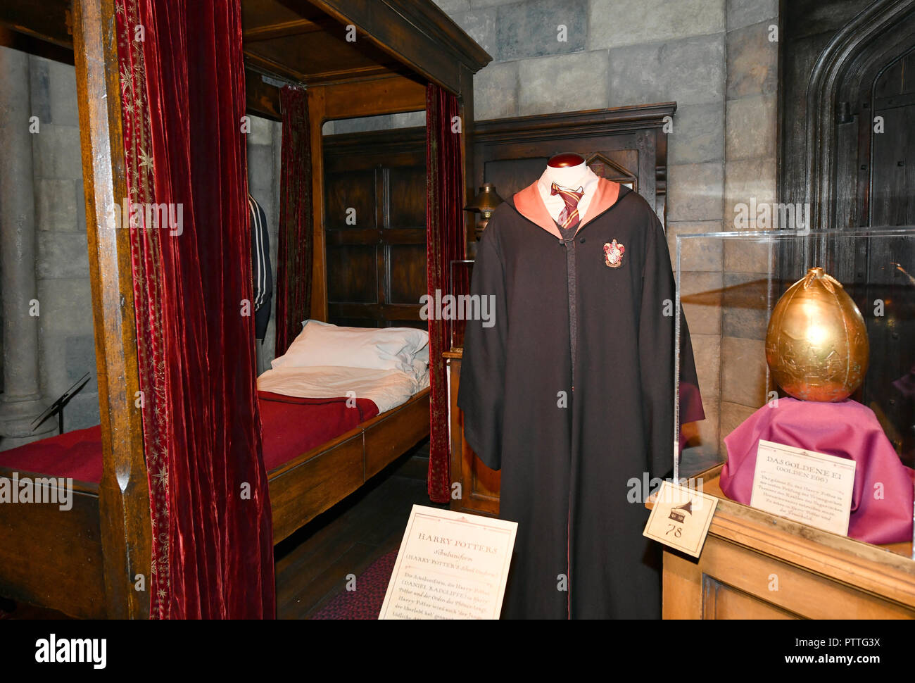 Potsdam Brandenburg 11th Oct 2018 Harry Potter S Boarding School Bed And School Uniform Are Shown In