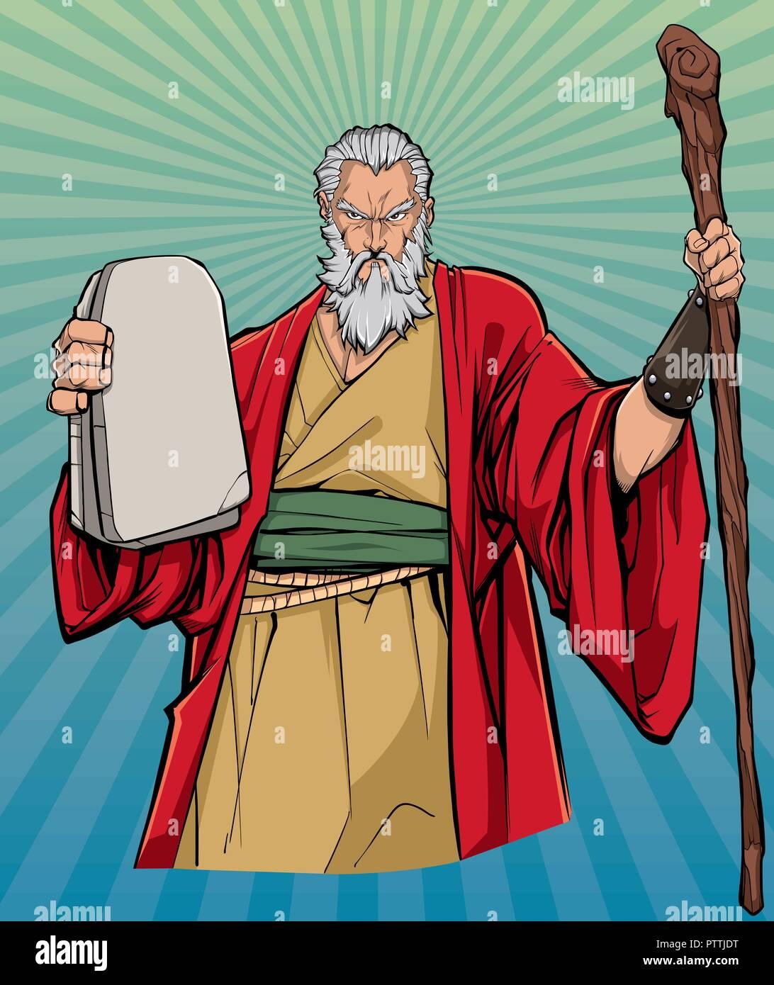 Moses Religious Icon - Stock Image