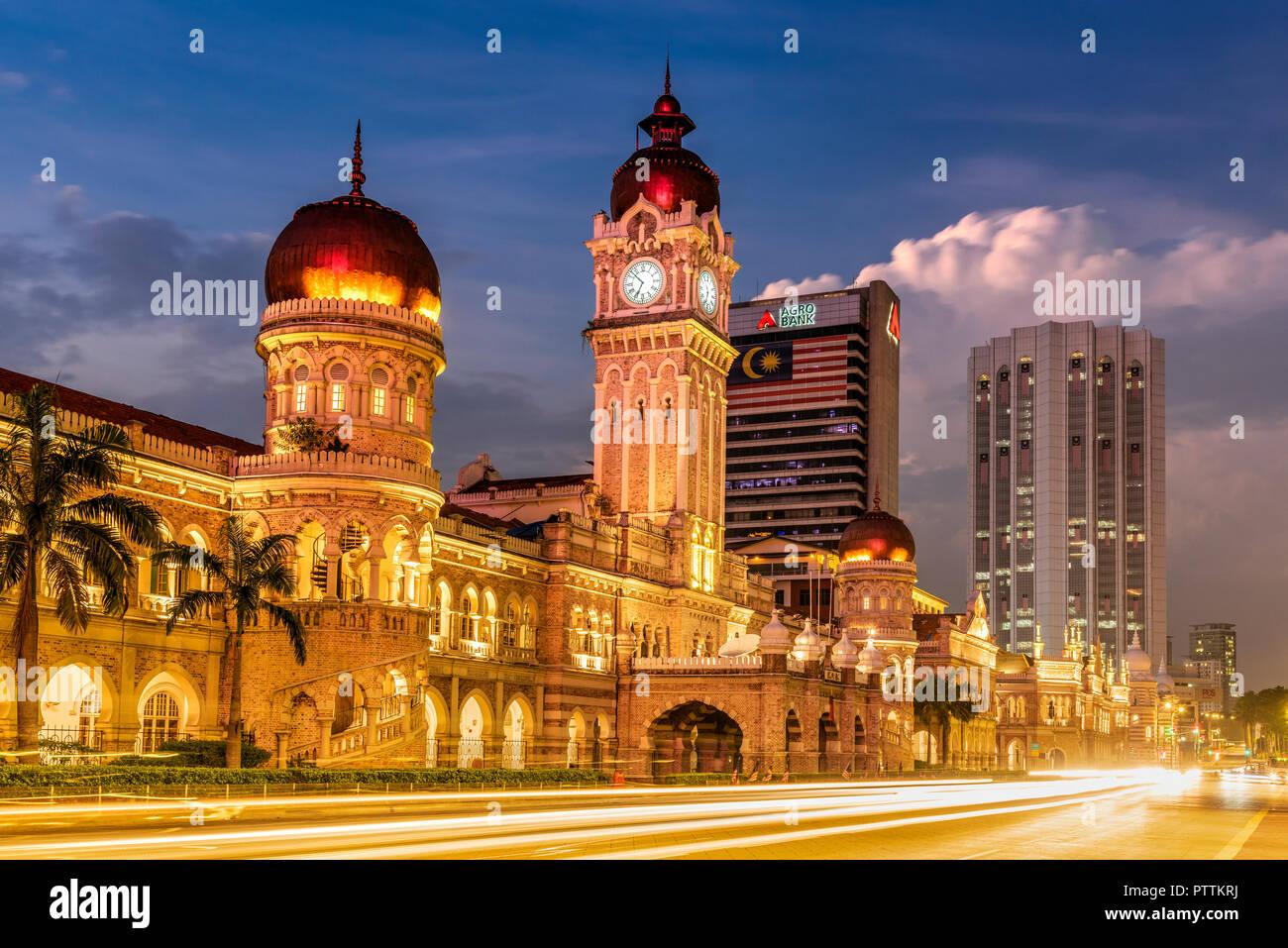 Sultan Abdul Samad Building, Merdeka Square, Kuala Lumpur, Malaysia - Stock Image