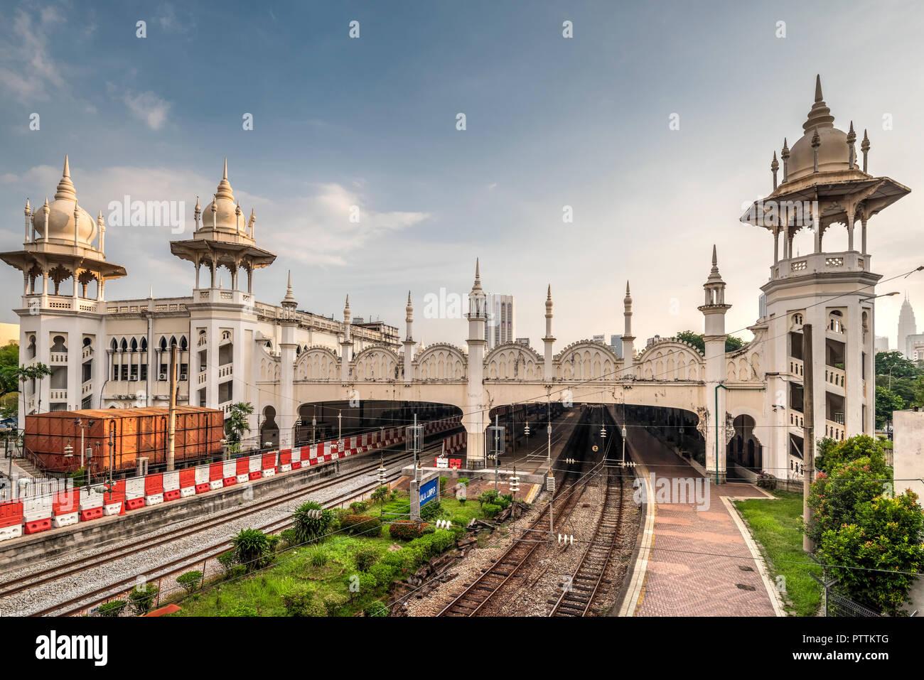 Kuala Lumpur railway station, Kuala Lumpur, Malaysia - Stock Image