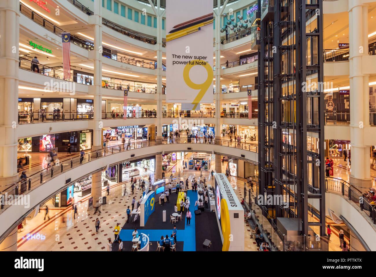 Suria KLCC shopping center, Kuala Lumpur, Malaysia - Stock Image