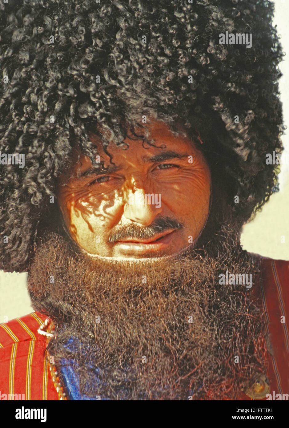 Turkmenistan people - Stock Image
