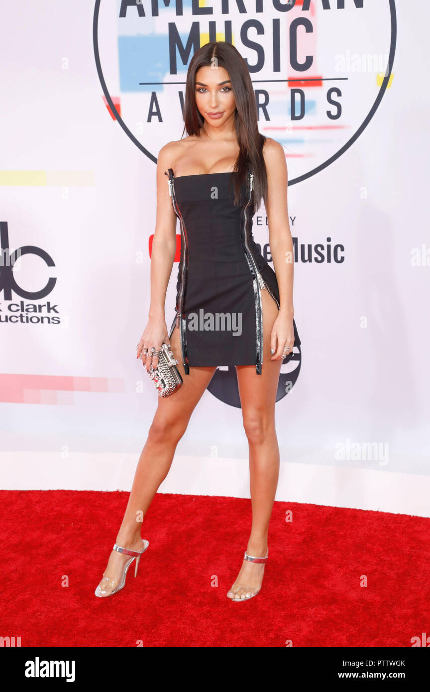 chantel jeffries attending the 46th annual american music awards at