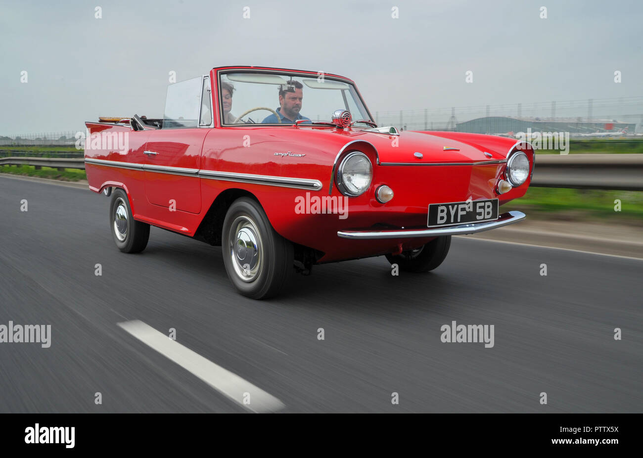Amphicar - 1960s British amphibious car on land and water - Stock Image