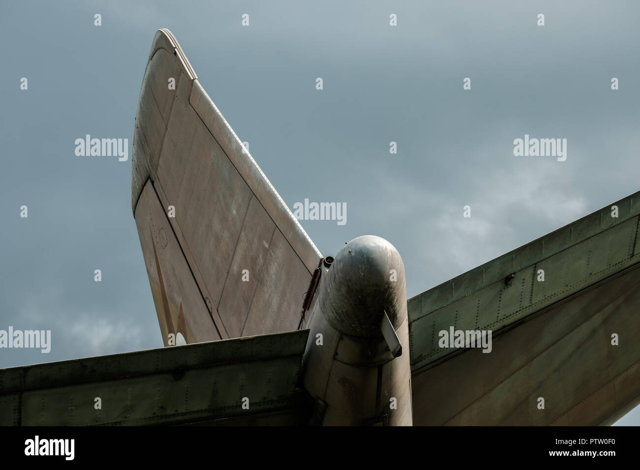 Old Canberra Bomber at Willowbank - Stock Image