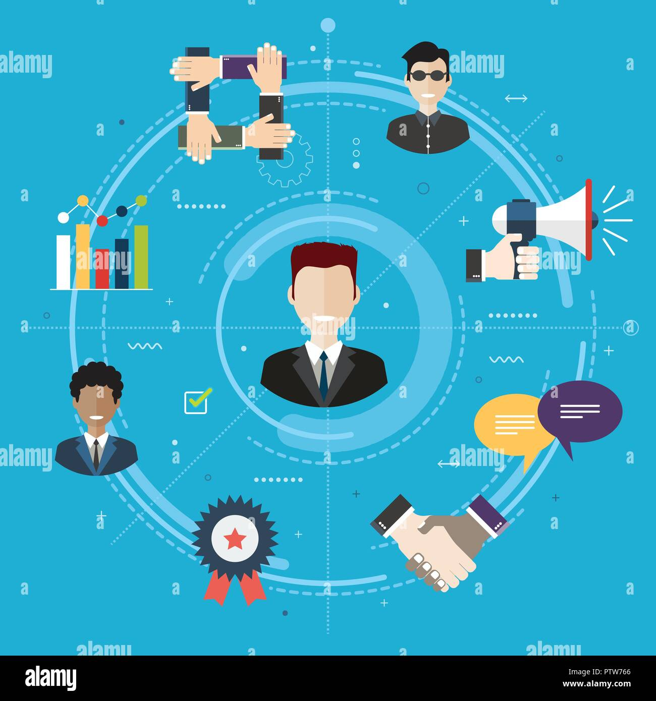 Care in business management and quality of service delivery. Evaluation and after sales support of the product purchase. Customer relationship concept - Stock Vector