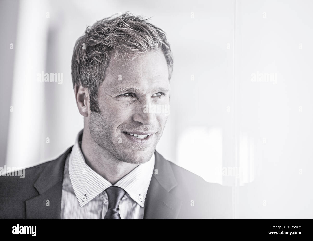 Geschaeftsmann, Portraet (model-released) - Stock Image