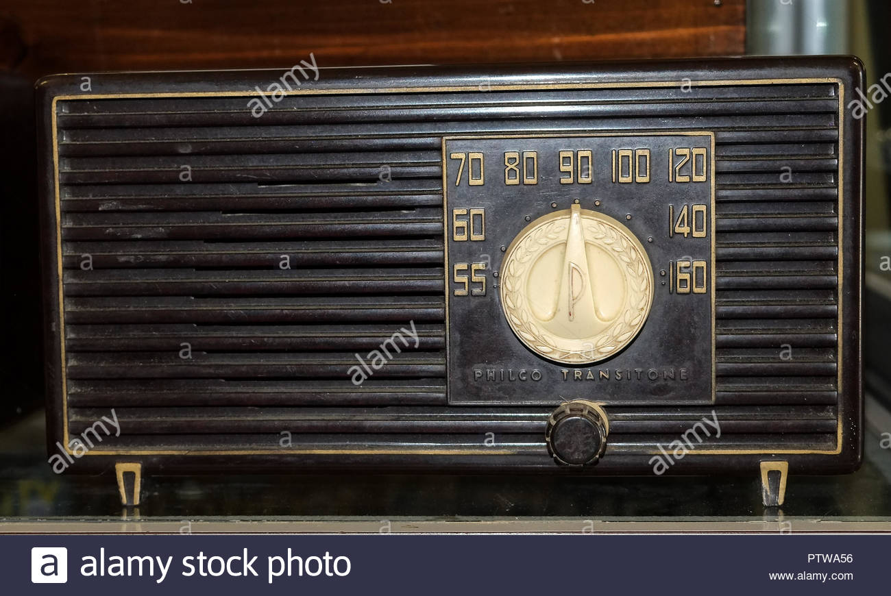 Philco Transitone Radio - Stock Image