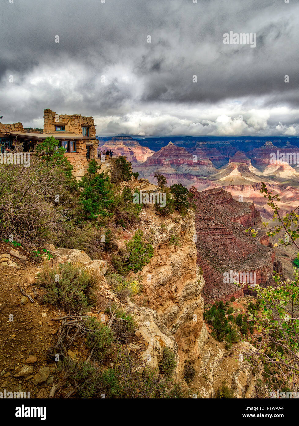 Original photographer studio at the Grand Canyon - used as a photography point for visitors in the early 2oth Century - Stock Image