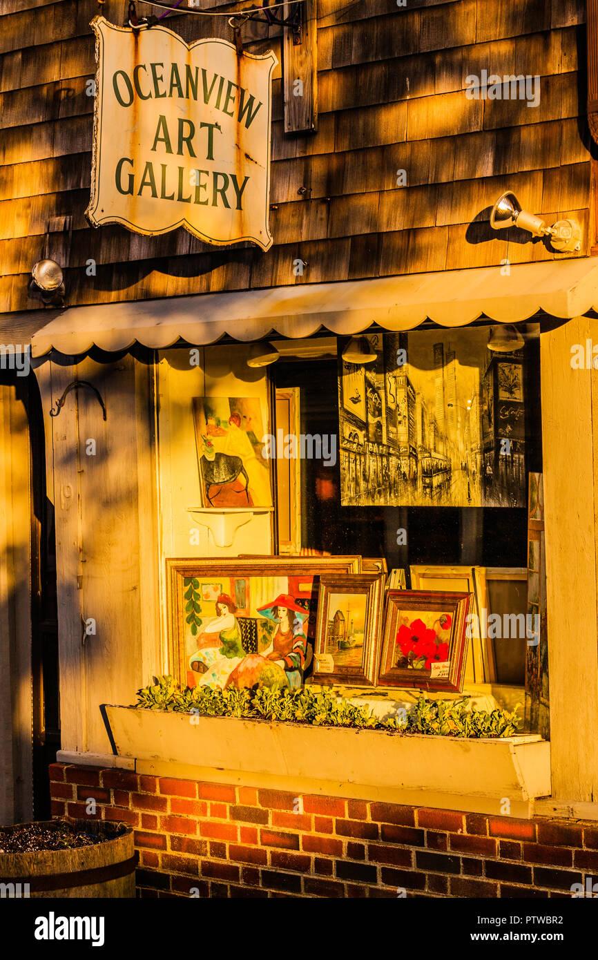 Oceanview Art Gallery _ Rockport, Massachusetts, USA - Stock Image