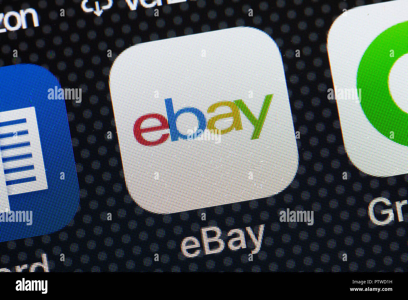 Ebay App Icon On Iphone Close Up Macro Usa Stock Photo Alamy