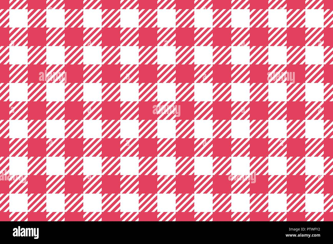 Wide Cell Horizontal Background Red Table Cloth In A Cage. Abstract  Checkered Backdrop.