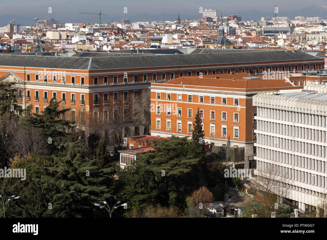 Madrid Spain January 24 2018 Amazing Panorama Of City