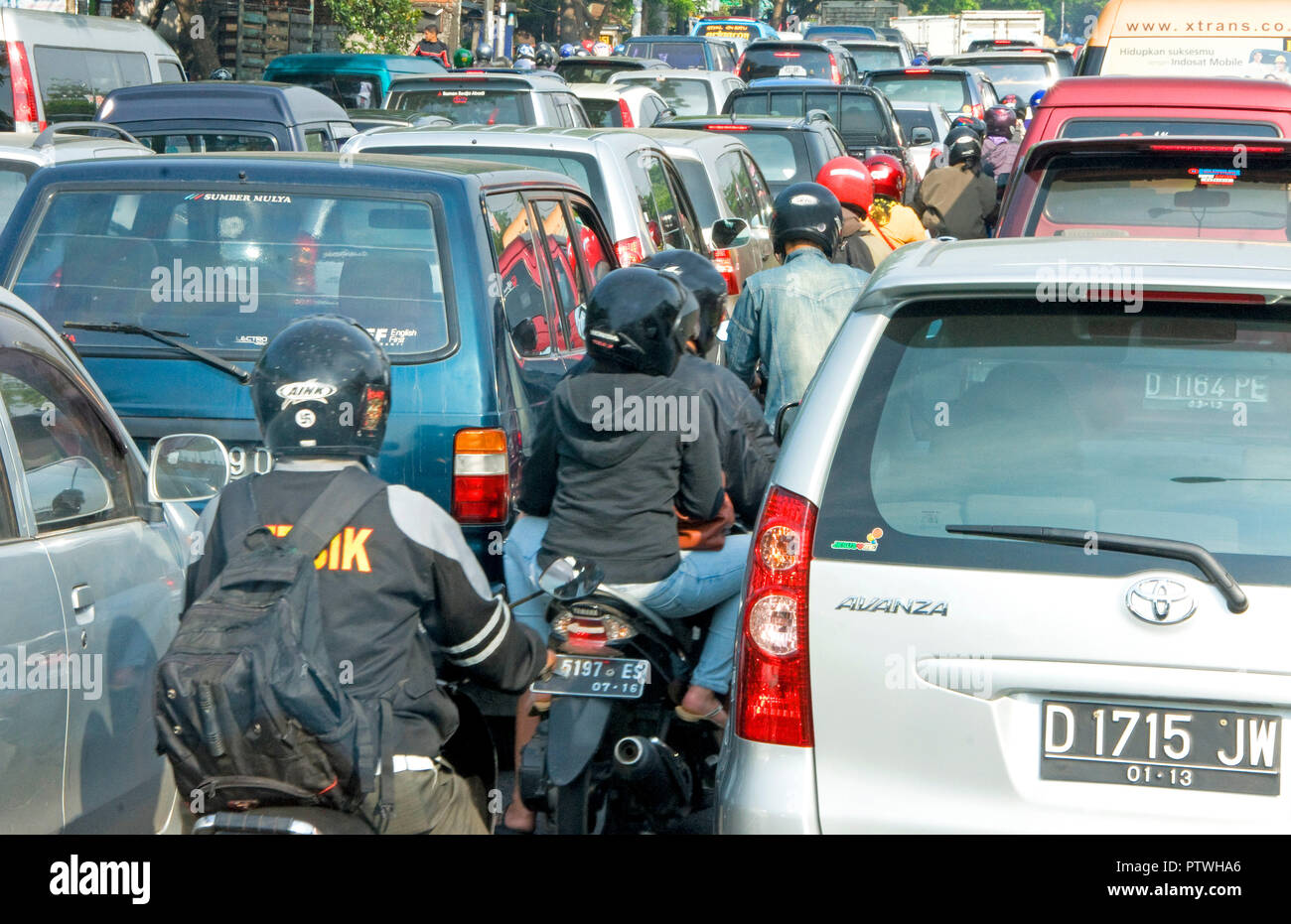 Traffic congestion in Jakarta. - Stock Image