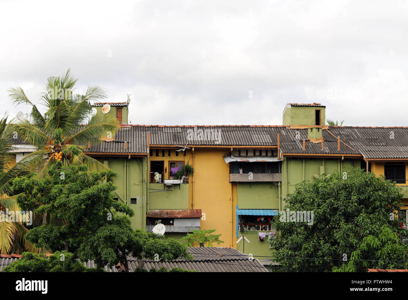 The stacks of housing area in colombo taken in sri lanka august 2018
