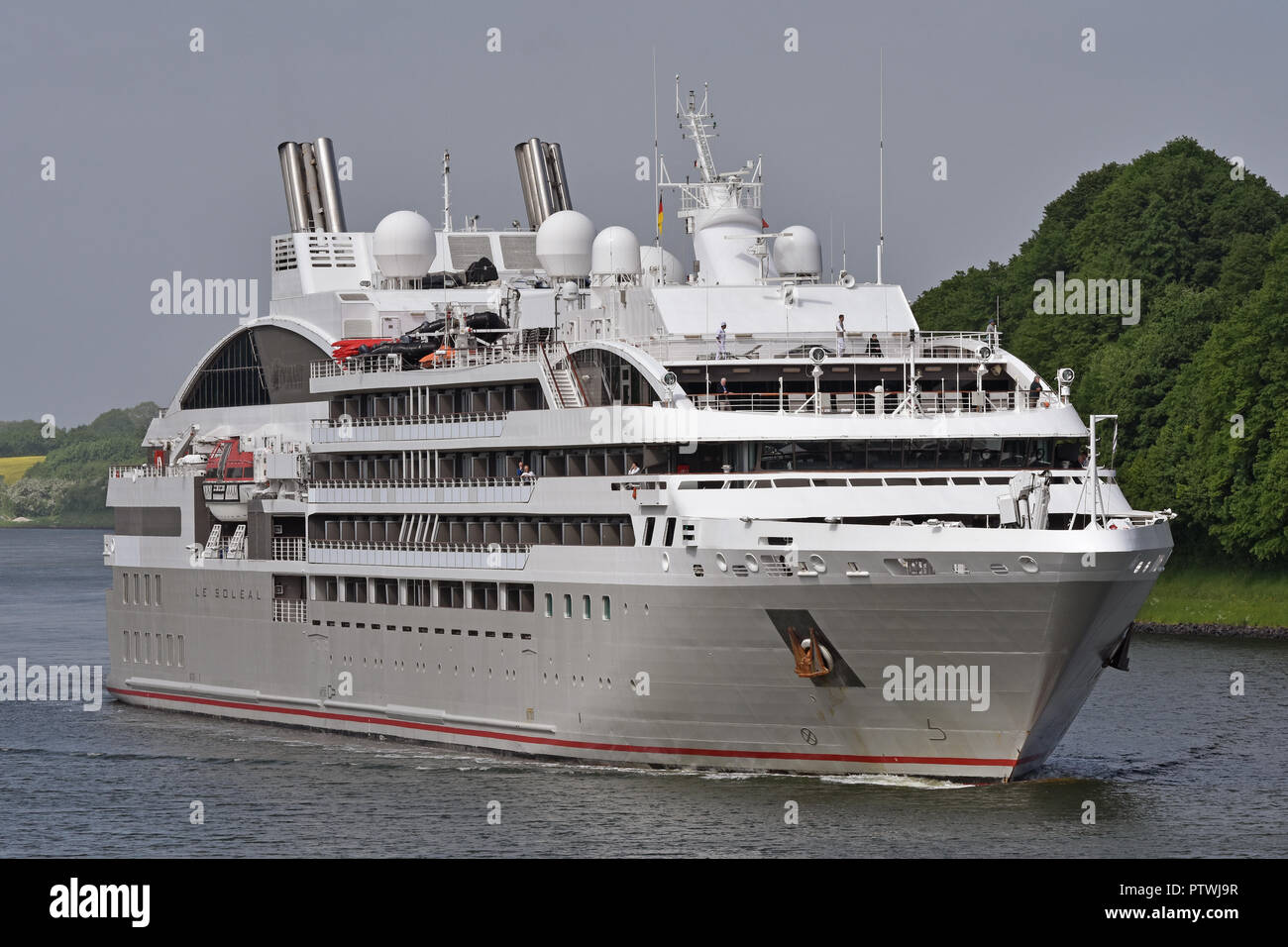 Cruiseship Le Soléal Stock Photo