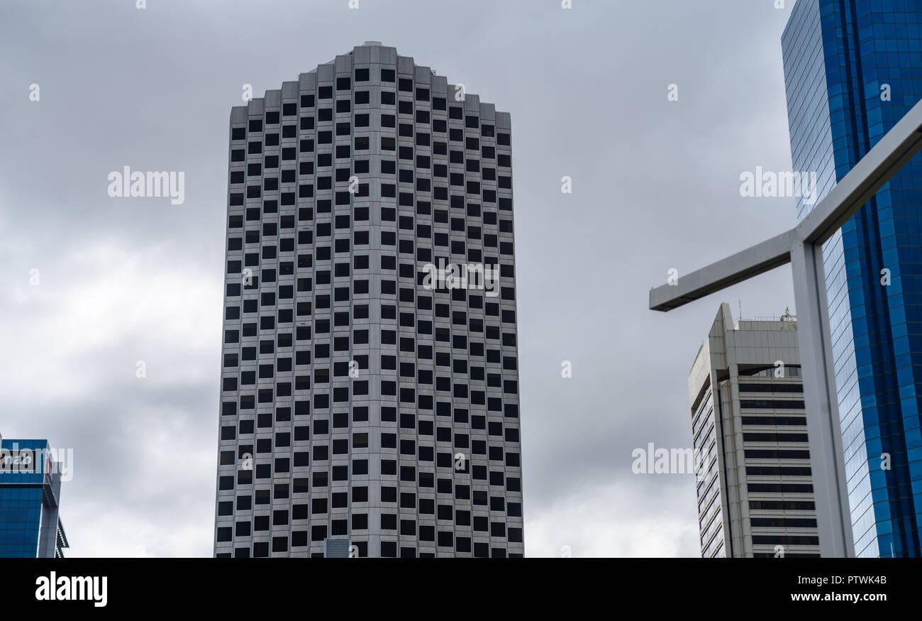 Allendale Square, Skyscraper, in Perth, central buisness district, Western Australia - Stock Image