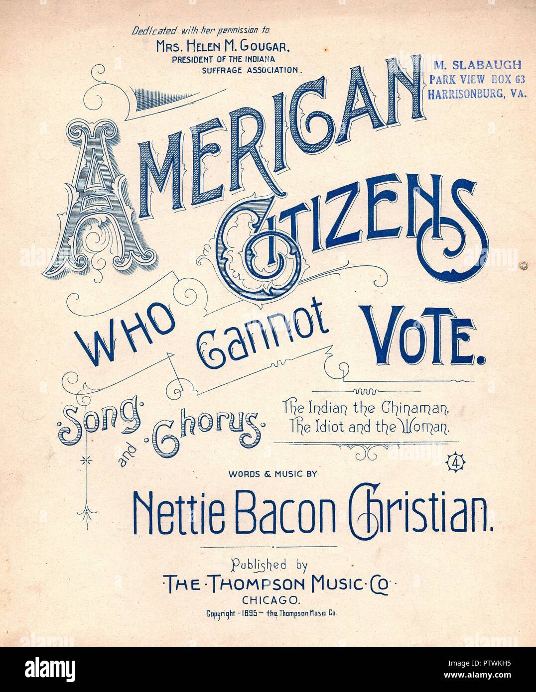 Image result for american citizens who cannot vote  sheet music
