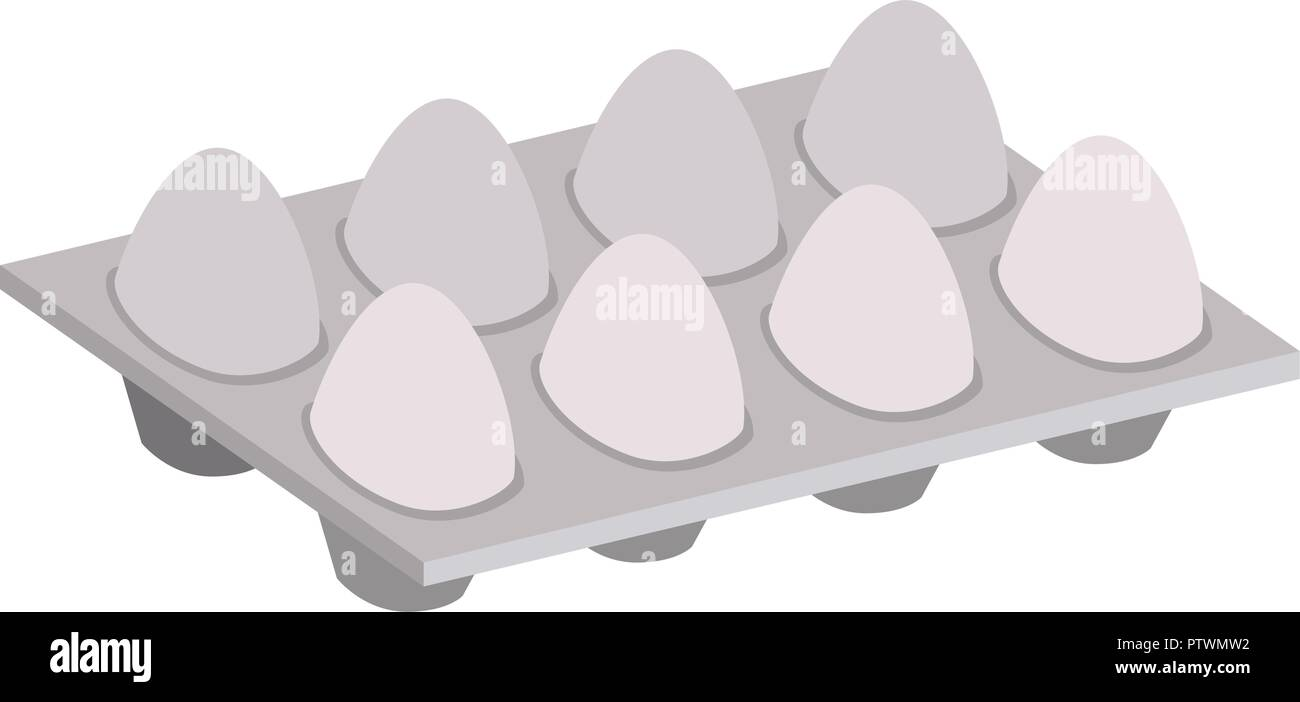 eggs pack isolated icon - Stock Vector
