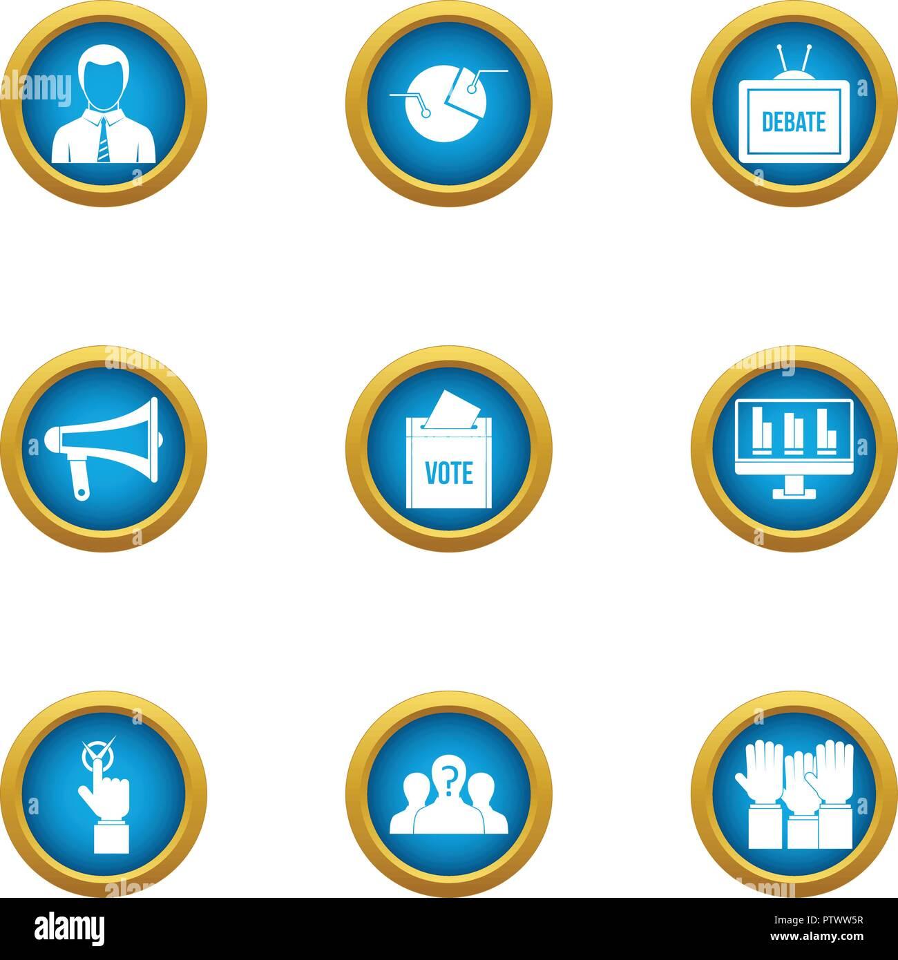 Part icons set, flat style - Stock Image