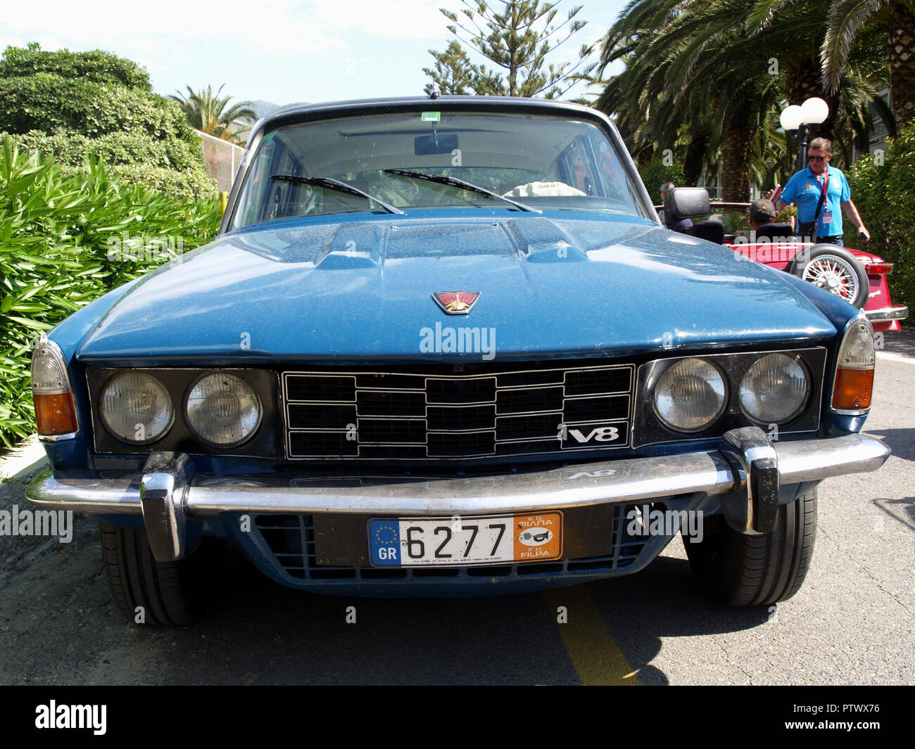 Vintage Rover 2000 P6 on display at the 8th Hellenic Bulgarian LEKAM classic car rally at the Acharavi Park Hotel, Acharavi, Corfu, Greece - Stock Image