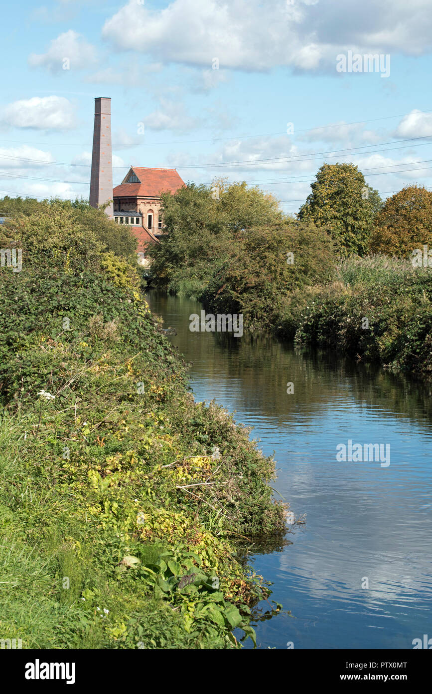 Walthamstow Wetlands, Marine Engine House, previously Ferry Lane pumping Station with Swift tower London Borough of Walthams Forest England Britain UK Stock Photo