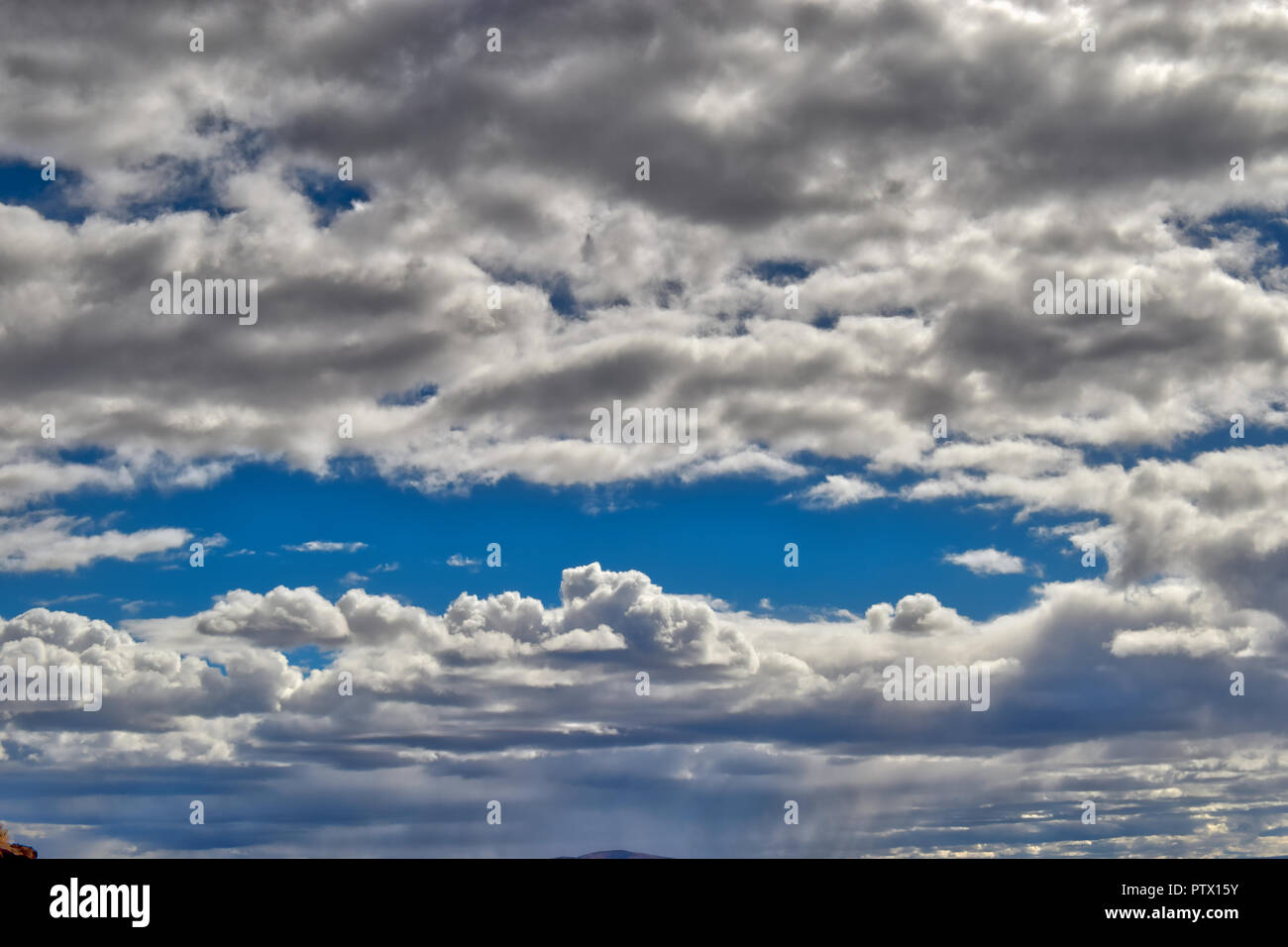 Partly cloudy skies in Central Oregon - Stock Image