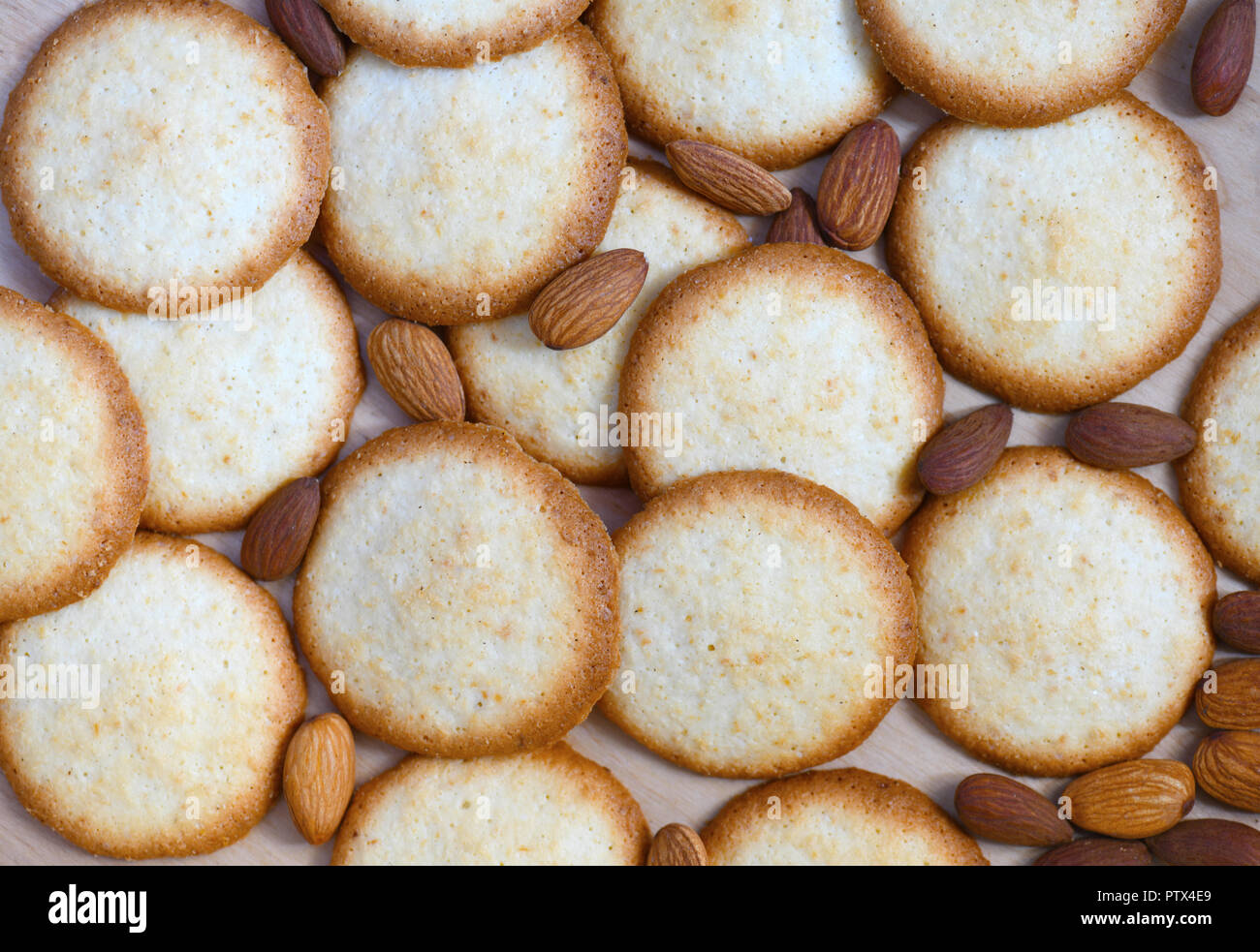 Traditional Christmas Homemade Almond Biscuits Shot As A Food