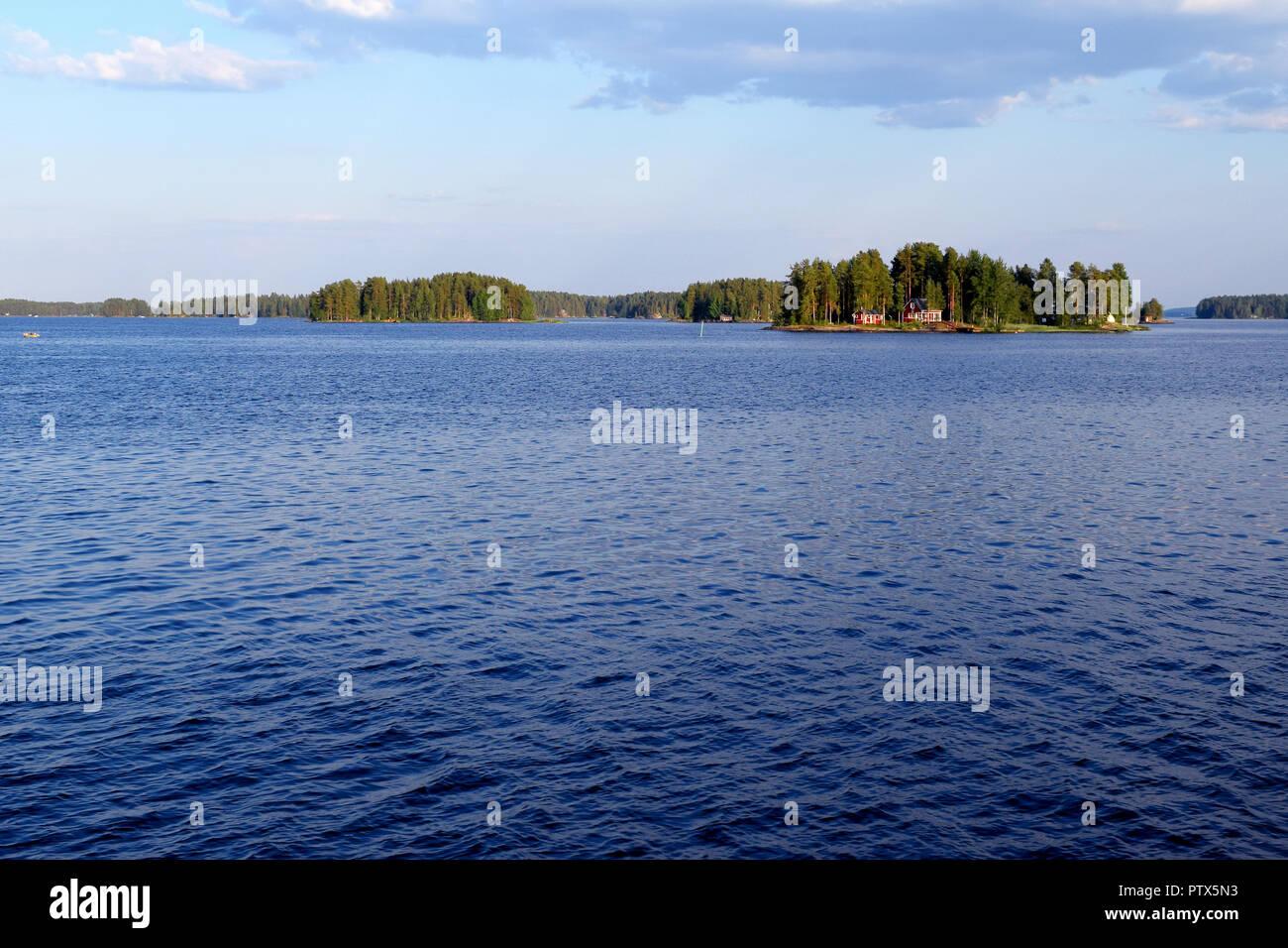 Lake Kallavesi near Kuopio, Finland - Stock Image