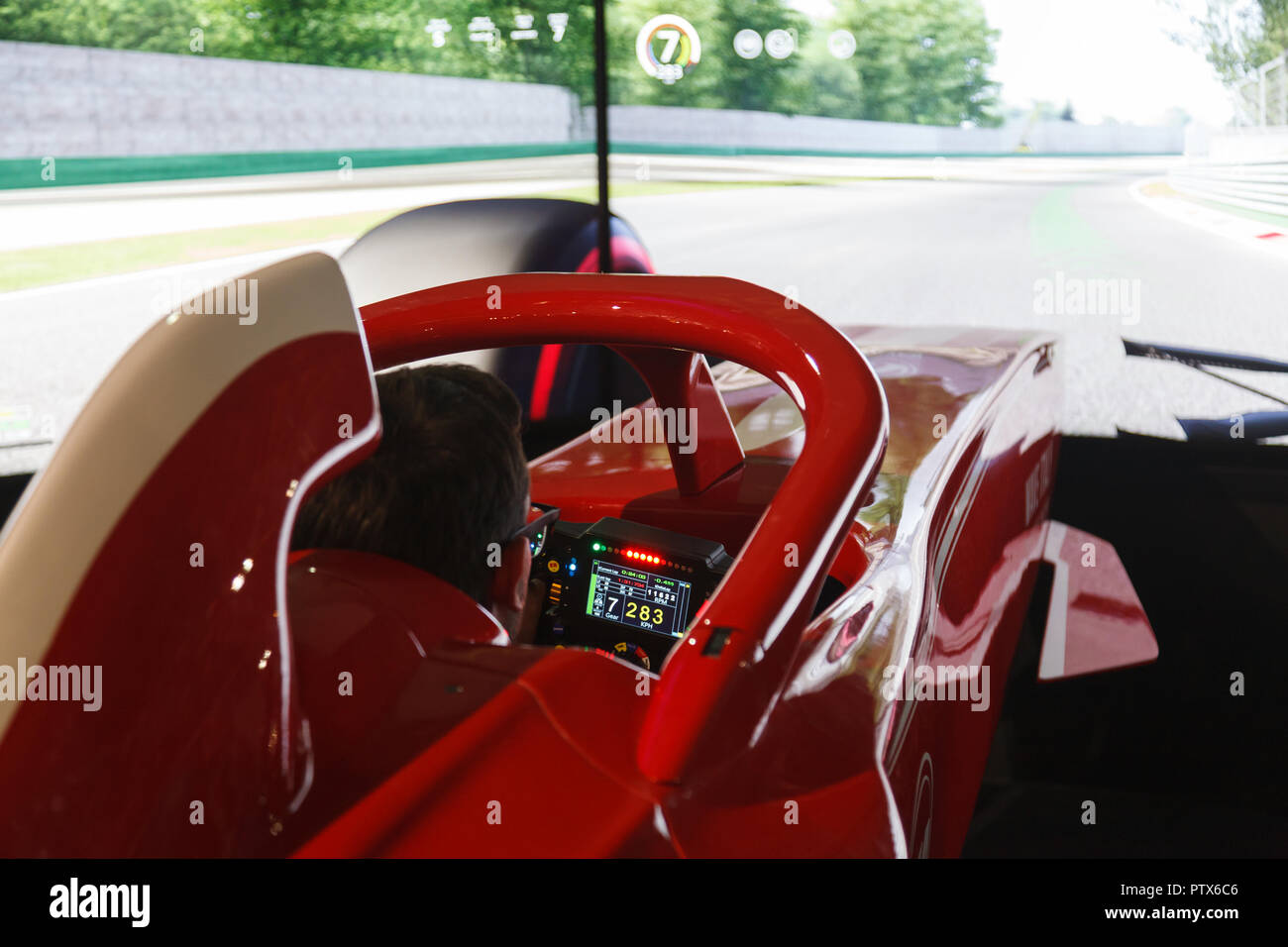 Race Car Simulator Stock Photos & Race Car Simulator Stock Images