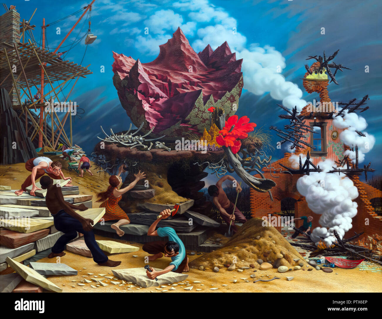 The Rock, Peter Blume, 1944-1948, Art Institute of Chicago, Chicago, Illinois, USA, North America - Stock Image