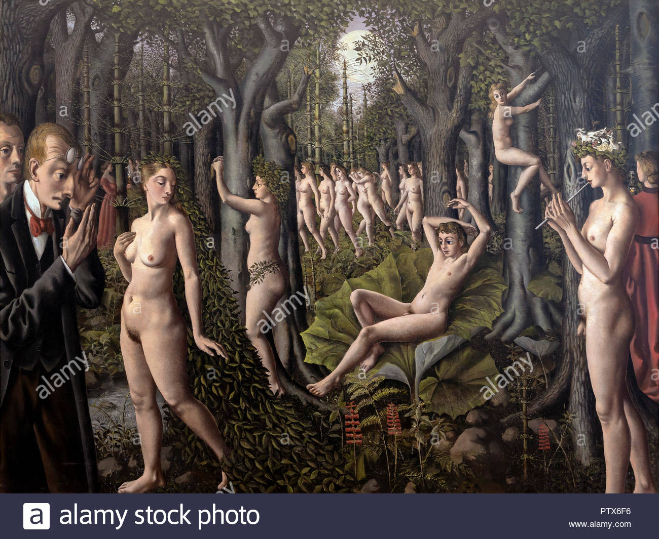 The Awakening of the Forest, Paul Delvaux, 1939, Art Institute of Chicago, Chicago, Illinois, USA, North America - Stock Image